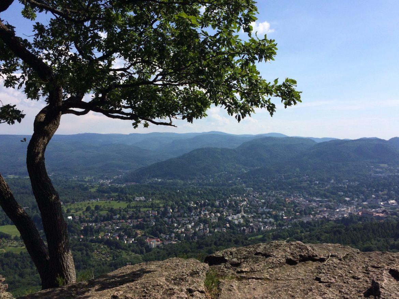 Baden-Baden: Blick auf die Stadt vom Blattert