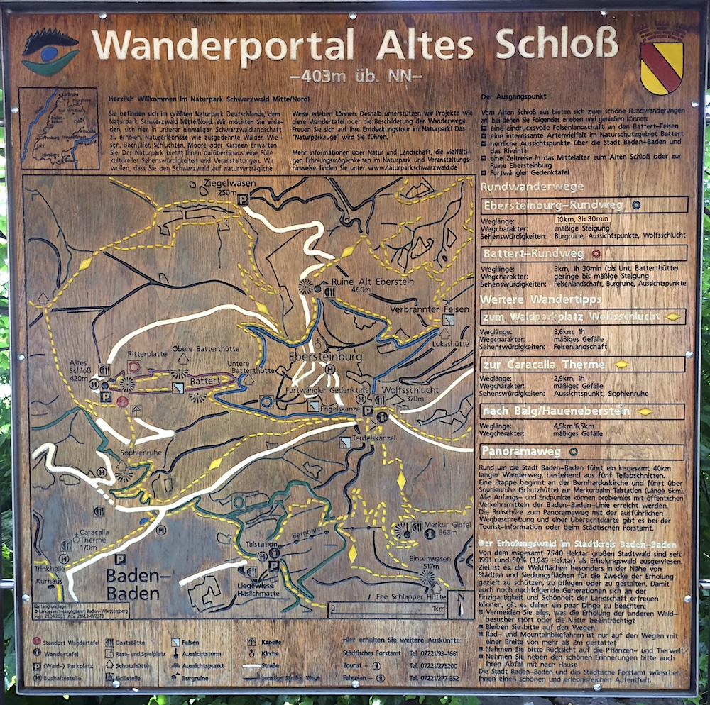 Baden-Baden: Wanderportal Altes Schloss