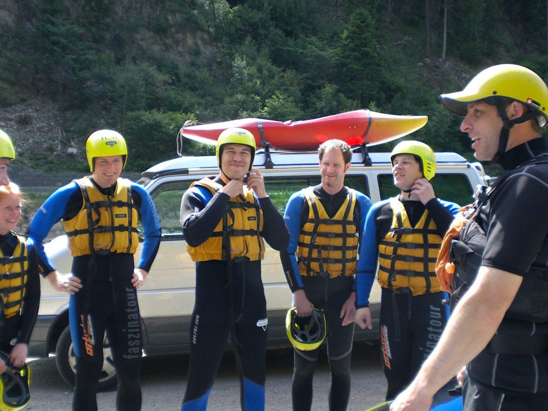 Rafting Einweisung