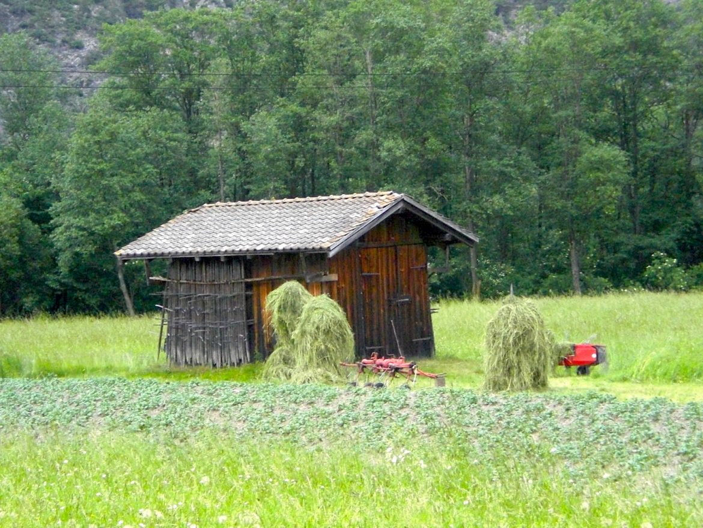 Haiming Tirol Ötztal Wiese Holzhütte