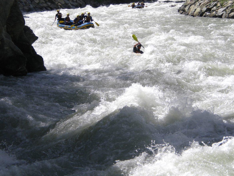 Rafting auf der engen Sanna