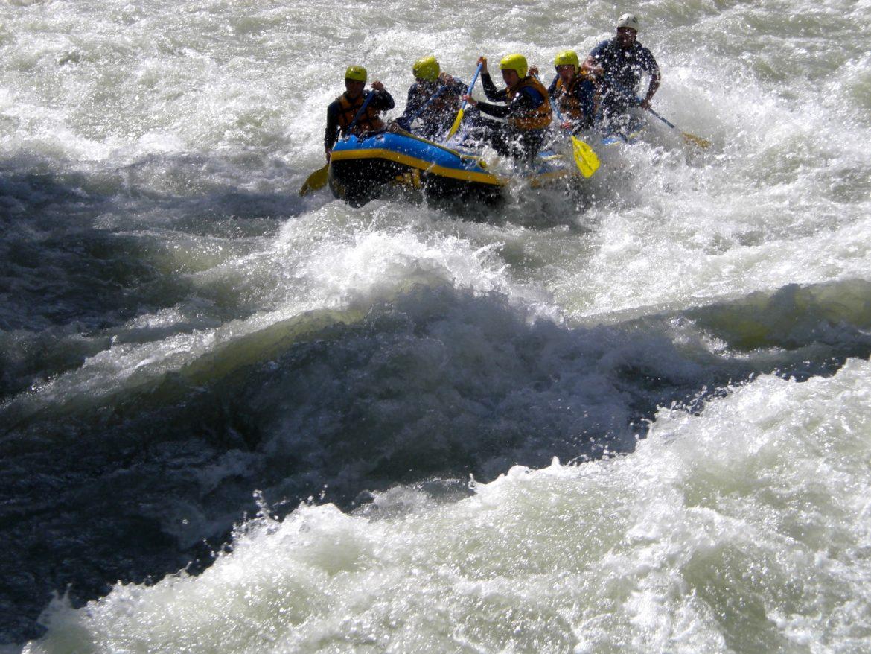 Rafting auf der Sanna