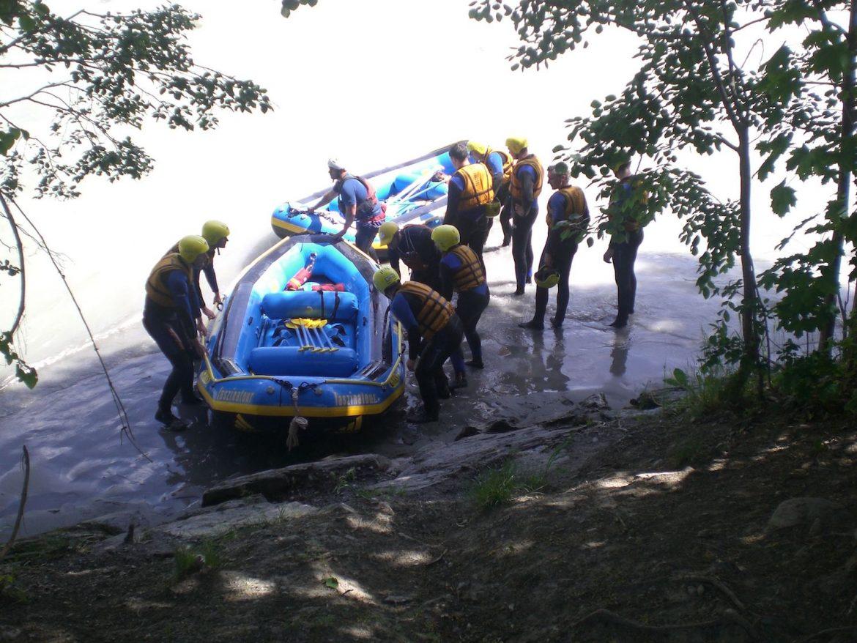 Rafting Sanna Ausstieg/Ende