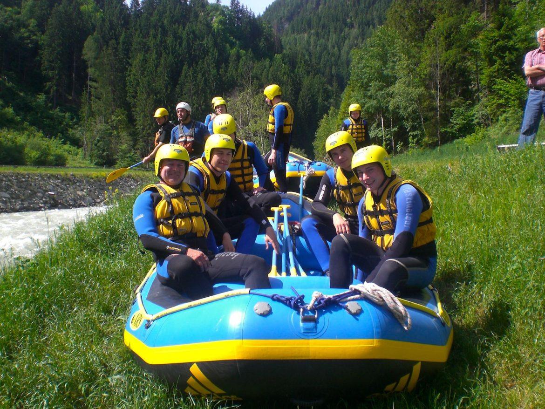 Rafting Trockenübung Sanna