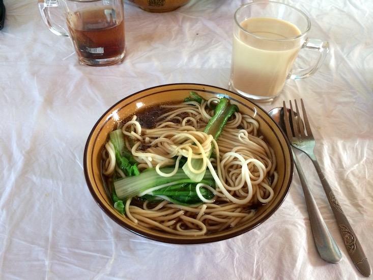 Tibet Essen Nudelsuppe