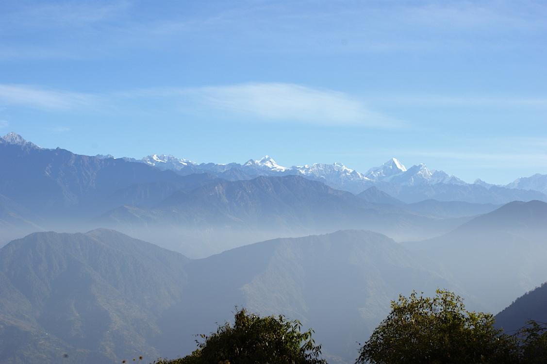 Blick auf das Himalaya Gebirge