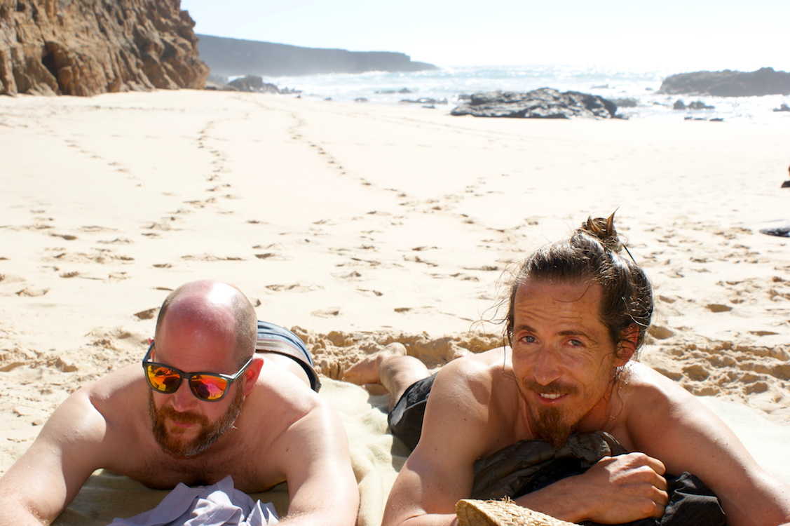 Praia do Malhão: Sebastian und Jean Mathieu